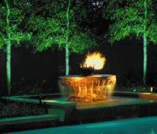 Modern Fountain & Garden