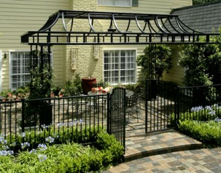 Case Study: Landscaping, Pool Remodel & Iron Arbor Project