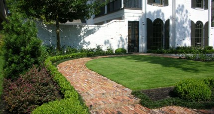 A Brick Landscape will add Old World Charm to Your Houston Home