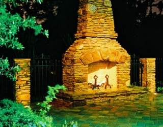 Houston Outdoor Fireplace Design Case History