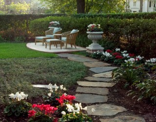 Environmentally Tree Friendly Stone Work in River Oaks Landscape